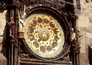 orologio astronomico - particolare