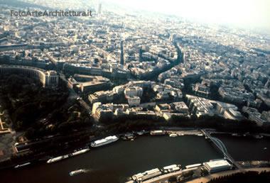panorama dalla Torre Eiffel