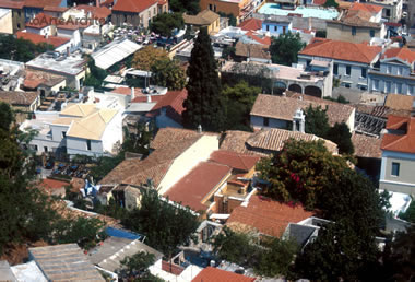veduta dll'alto di Atene