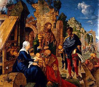 Durer – Adorazione dei Magi - 1504 (Uffizi Firenze)
