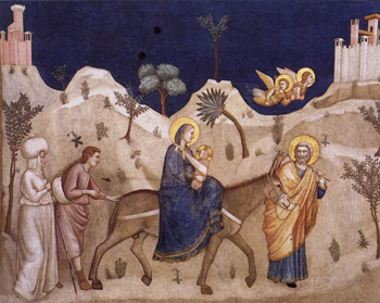 Fuga in Egitto - Giotto