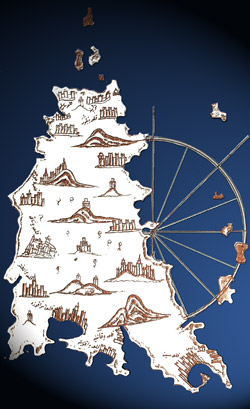 Elaborazione grafica di una cartina di Piri Reis