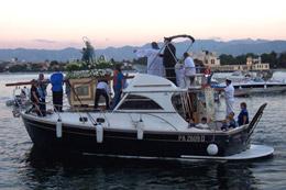 Mondello: processione in barca Madonna delle Grazie