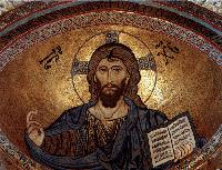 Mosaico bizantino del Cristo Pantocratore nel catino dell'abside del Duomo