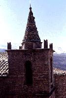 Particolare del campanile policromo