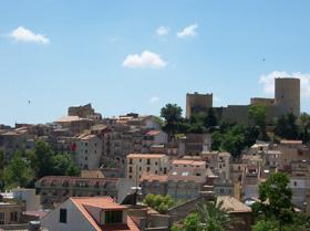 Salemi - veduta del castello