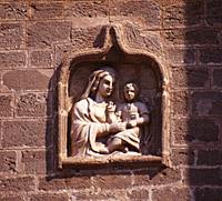 Particolare dell'icona posta in facciata