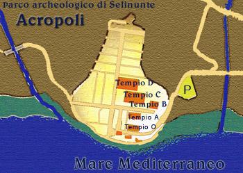 Pianta del parco archeologico