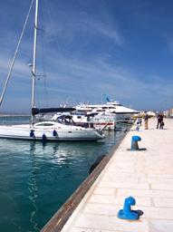 Imbarcazioni ormeggiate al porto di Trapani